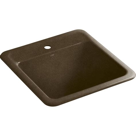 cast iron utility sink shop kohler black and tan cast iron laundry sink at lowes com