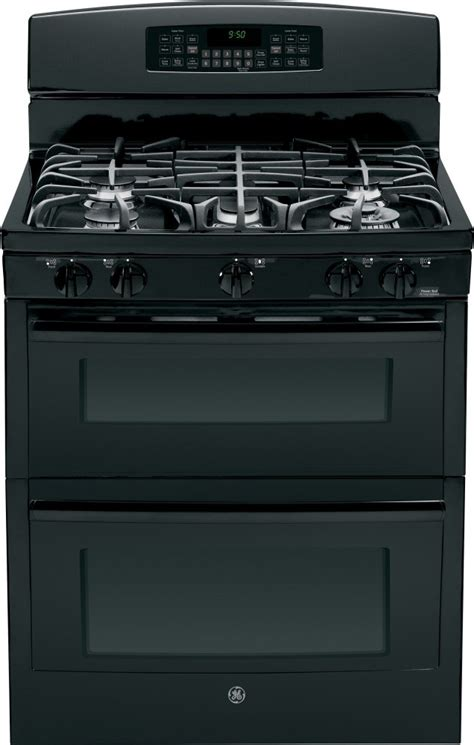 pgbdefbb ge profile series   standing gas double oven  convection range black