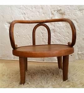 Chaise Enfant Vintage : ancienne petit chaise enfant vintage en bois type thonet la nouvelle raffinerie luminaires ~ Teatrodelosmanantiales.com Idées de Décoration