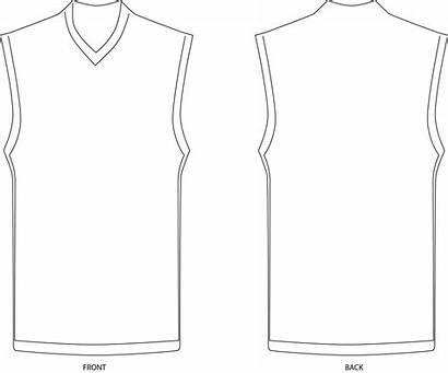 Template Jersey Basketball Blank Clipart Templates Vector