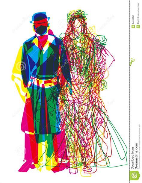 abstract fashion show man woman stock vector