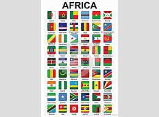 Buttons With African Countries Flags Royalty Free Stock