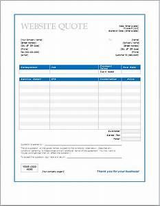 Microsoft Word Invoice Template 2010 Website Design Quote Template Web Design Quotes Quote