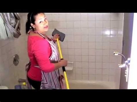 domestic diva cleaning  tub shower walls youtube