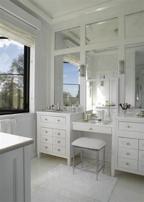 double vanity make up vanity design paneled mirrors