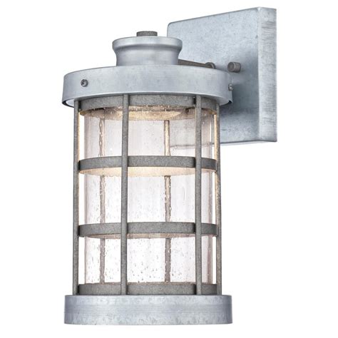 home depot wall sconces westinghouse barkley 1 light galvanized steel outdoor