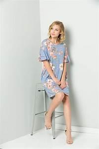 Floral Midi Dress Blue Floral Midi Dress Blue