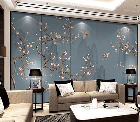 Tapisserie Japonaise by Tapisserie Asiatique Paysage Avec Les Fleurs Et Les