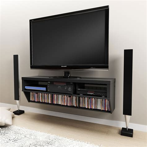 wall mount tv cabinet furniture black wall mount tv stand with tempered glass