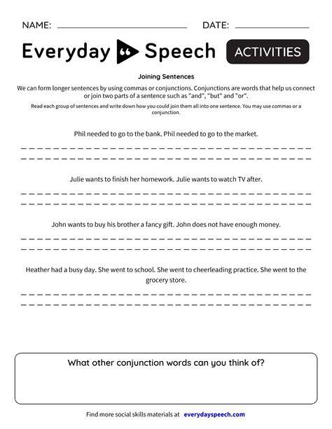 Joining Sentences  Everyday Speech  Everyday Speech