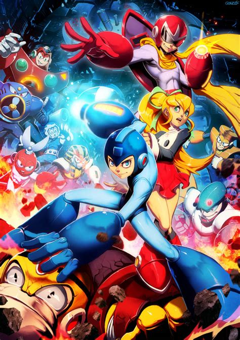 Mega Man By Genzoman On Deviantart