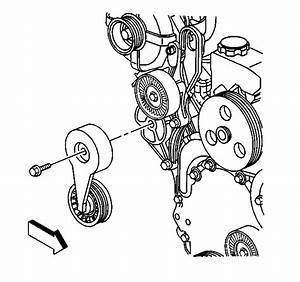 Where Is The Tensior For Serpentine Belt On 01 Pontiac