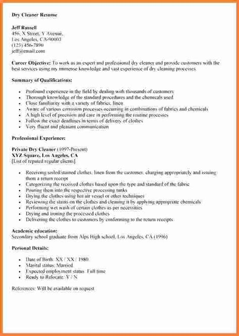 Sle Cleaner Resume by Resume Sles For Cleaning Resume Sle