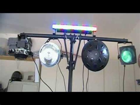 simple dj lighting setup my mobile dj setup youtube