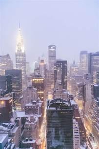 New York City Skyline Snow
