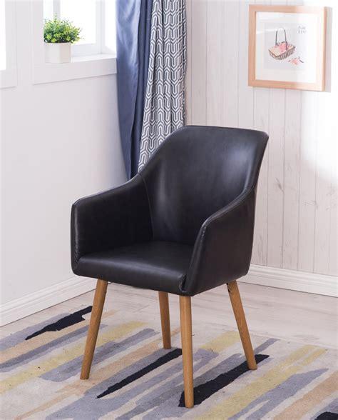 chaise de visiteur avec accoudoirs style scandinave dot