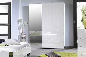 Armoire de chambre laqué blanc Trendymobilier