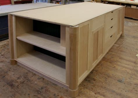 kitchen island shelves dorset custom furniture a woodworkers photo journal the