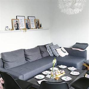 Wohnzimmer Grau Rosa : interior inspiration skandinavisch cleanes wohnzimmer mit ikea friheten sofa beton couchtisch ~ Orissabook.com Haus und Dekorationen