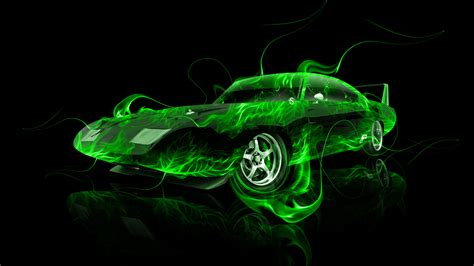 Dodge Charger Daytona Muscle Fire Abstract Car 2014   el Tony