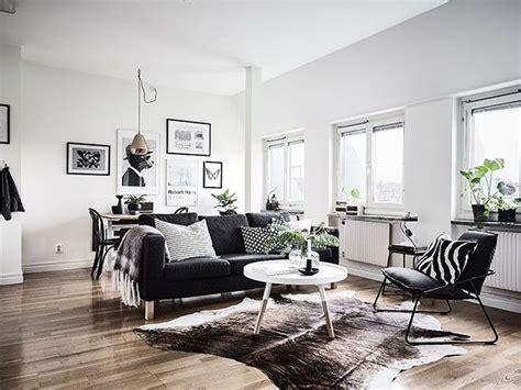 decoration en noir blanc deco idee deco salon