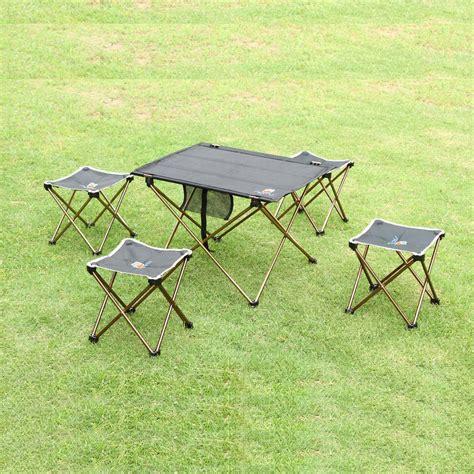 aotu meja lipat cing outdoor piknik black