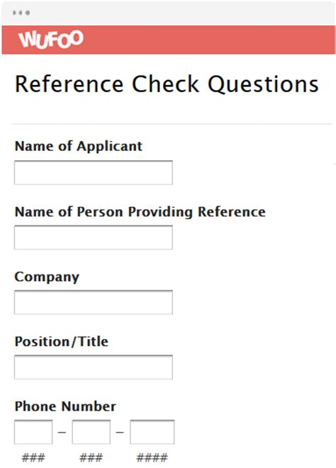 Contract Template For Wufoo by Online Form Template Wufoo