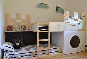 Lit Haut Ikea : personnaliser un lit ik a pour enfant ~ Teatrodelosmanantiales.com Idées de Décoration