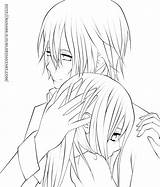 Coloring Anime Kissing Crying Simple Template Sketchite Past sketch template