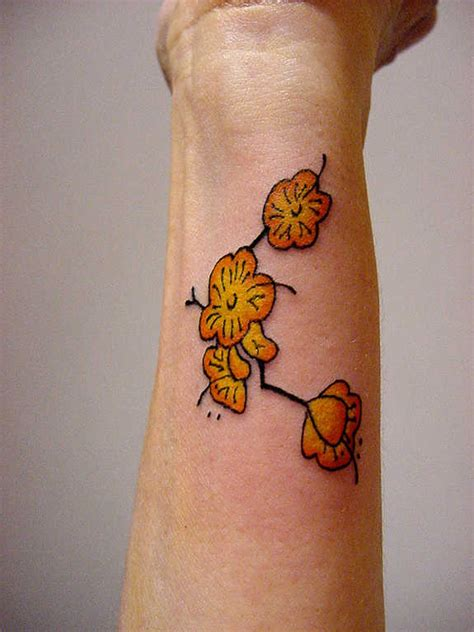 glorious wrist flower tattoos  designs