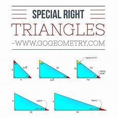 Special Right Triangle 3060, 4545, 3753 Elearning