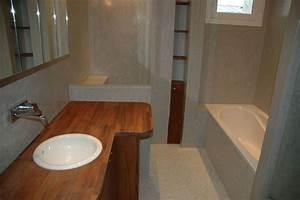 Plan Vasque Bois : tadelakt de marrakech lahouari tahiri salle de bain en ~ Premium-room.com Idées de Décoration
