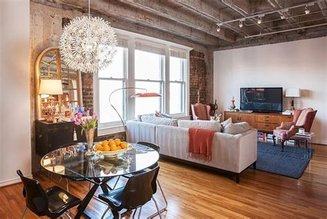 Eclectic Single Bedroom Apartment With Open Floor Plan by Amazing Eclectic Loft Apartment By Wilson Design