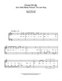 Disney Lion King Piano Sheet Music