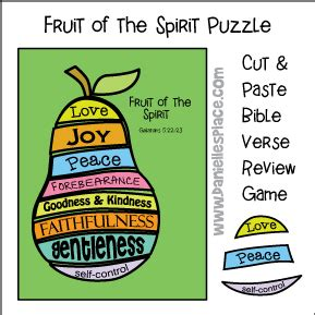 fruit of the spirit bible lesson and crafts for faithfulness 848 | pear puzzle picture 4