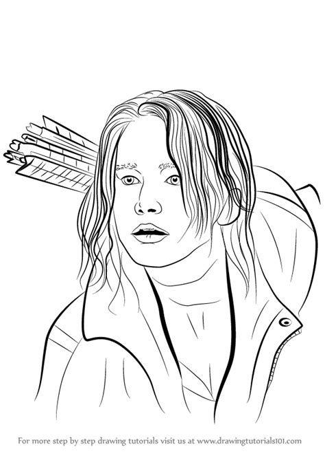 learn   draw katniss everdeen characters step