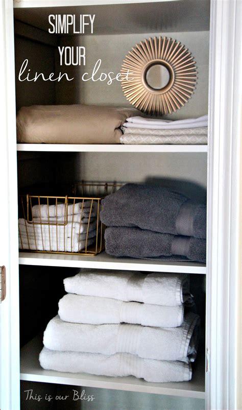 linen closet makeover    bliss