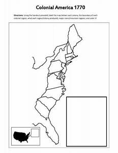 Blank Map Of The 13 Colonies Holidaymapqcom