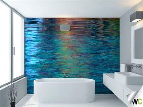 water reflections wall mural ideal   bathroom