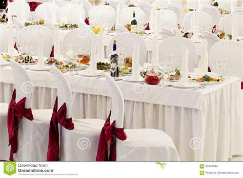 une salle de banquet de restaurant d 233 cor 233 e pour un mariage photo stock image 65742994