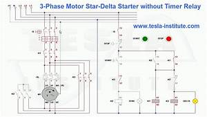 3-phase Motor Star-delta Starter Without Timer Relay