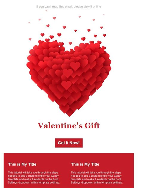 valentines day email templates