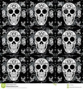 Sugar Skull Seamless Fabric