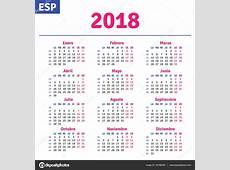 Español calendario 2018 — Vector de stock © rustamank