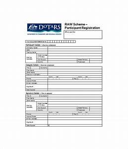 11 registration form templates free word pdf documents With participant registration form template