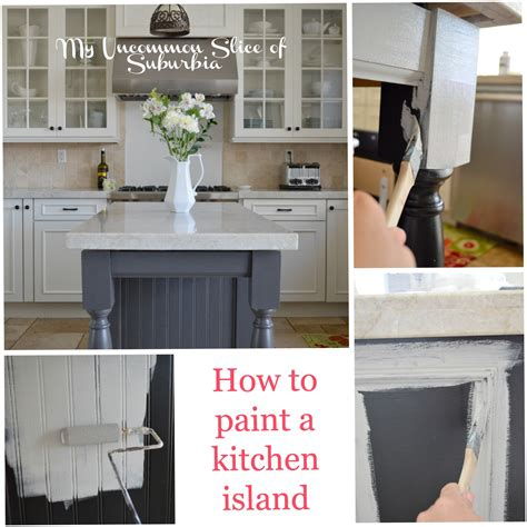 painted islands for kitchens how to paint a kitchen island