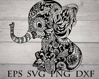 African elephant mandala animal svg. Baby elephant svg, mandala animal svg in 2020   Mandala ...
