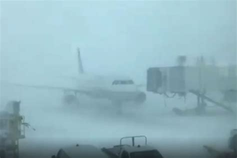 bomb cyclone wreaks havoc  denver airport  runways