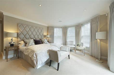 stunning gray master bedroom drapery interior design