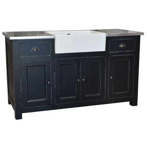 plan de travail cuisine avec evier integre meuble de cuisine avec évier intégré 4 portes et 2 tiroirs le dépôt des docks